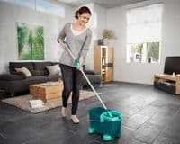LEIFHEIT  Clean Twist Mobile Mop And Bucket Set